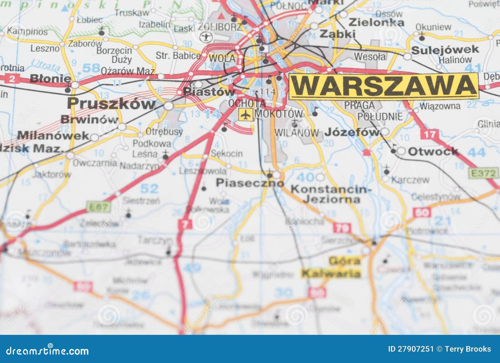 Mappa della citt di varsavia immagine stock immagine for Mappa della costruzione di casa