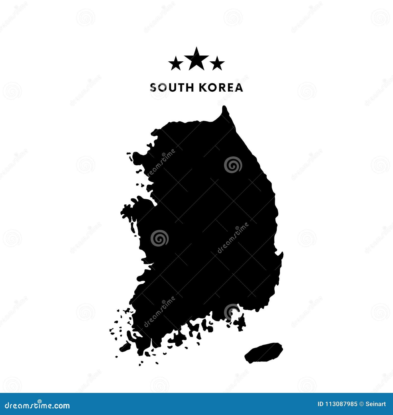 Mappa della Corea del Sud Illustrazione di vettore