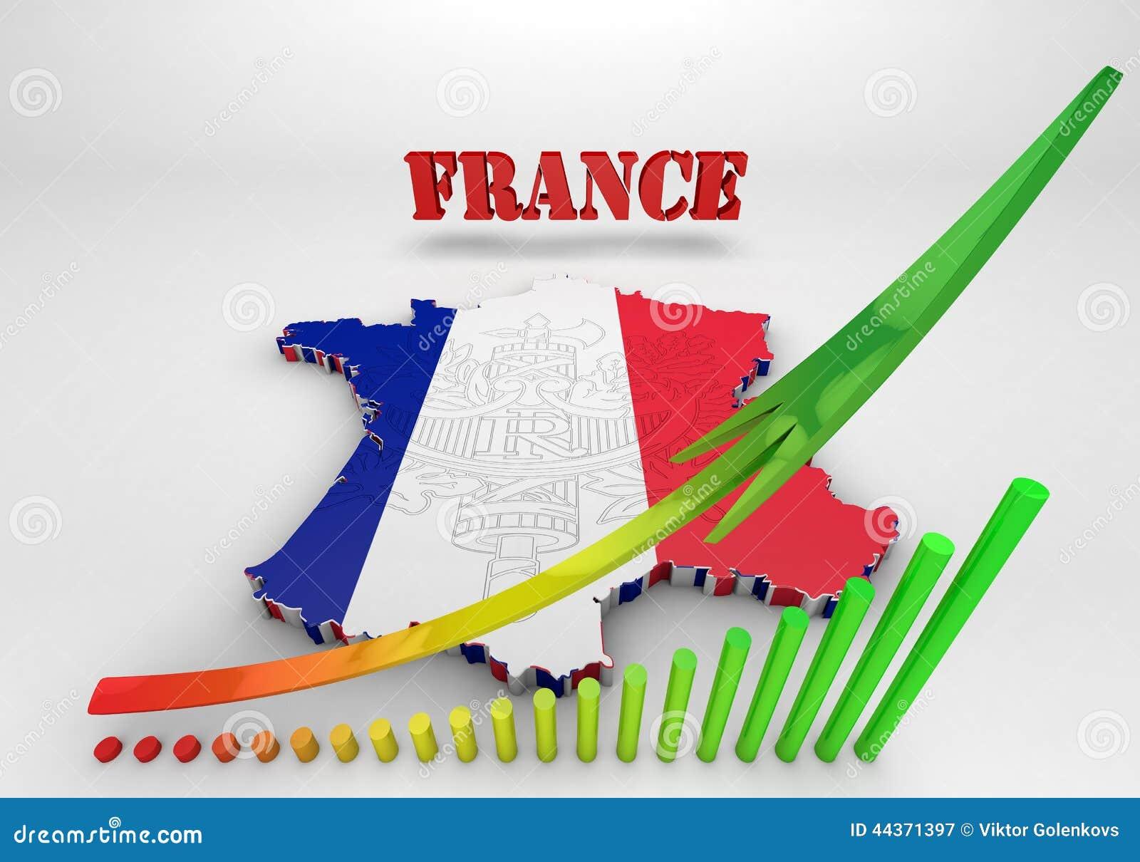 Mappa della Francia con i colori della bandiera