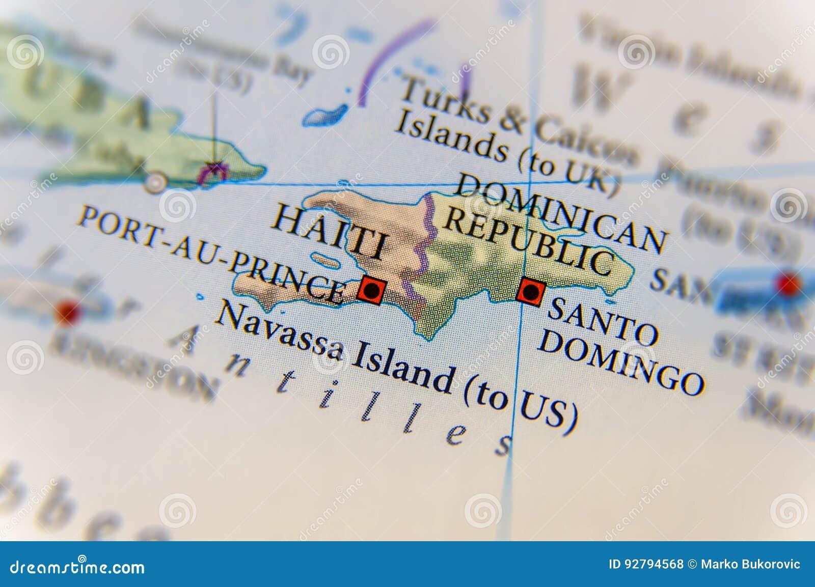 Cartina Geografica Haiti.Mappa Della Repubblica Dominicana E Di Haiti Geografico Fotografia Stock Immagine Di Paese Portoricana 92794568