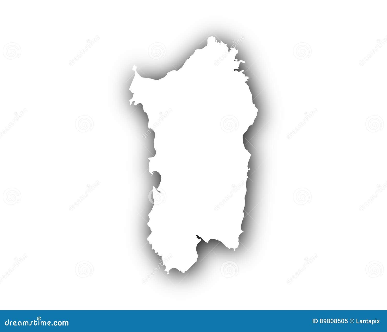 Cartina Sardegna Vettoriale.Mappa Della Sardegna Con Ombra Illustrazione Vettoriale Illustrazione Di Background Simbolo 89808505