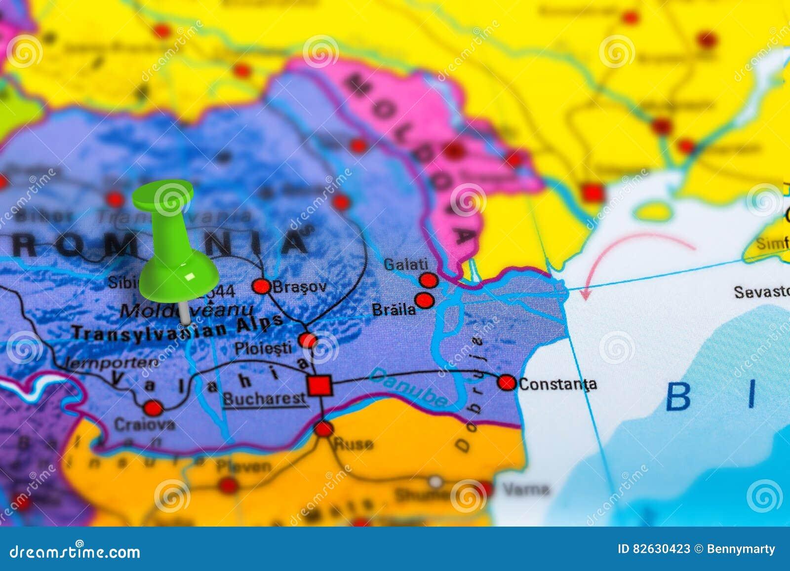 Cartina Romania Transilvania.Mappa Della Transilvania Romania Immagine Stock Immagine Di Posizione Indicatore 82630423