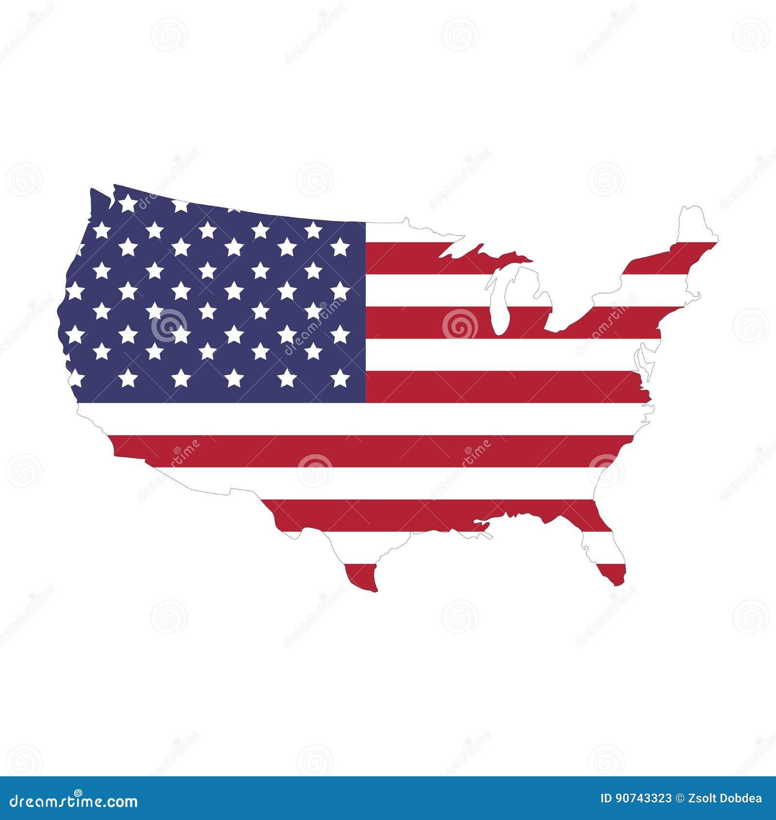 Mappa dello stato unito dell America