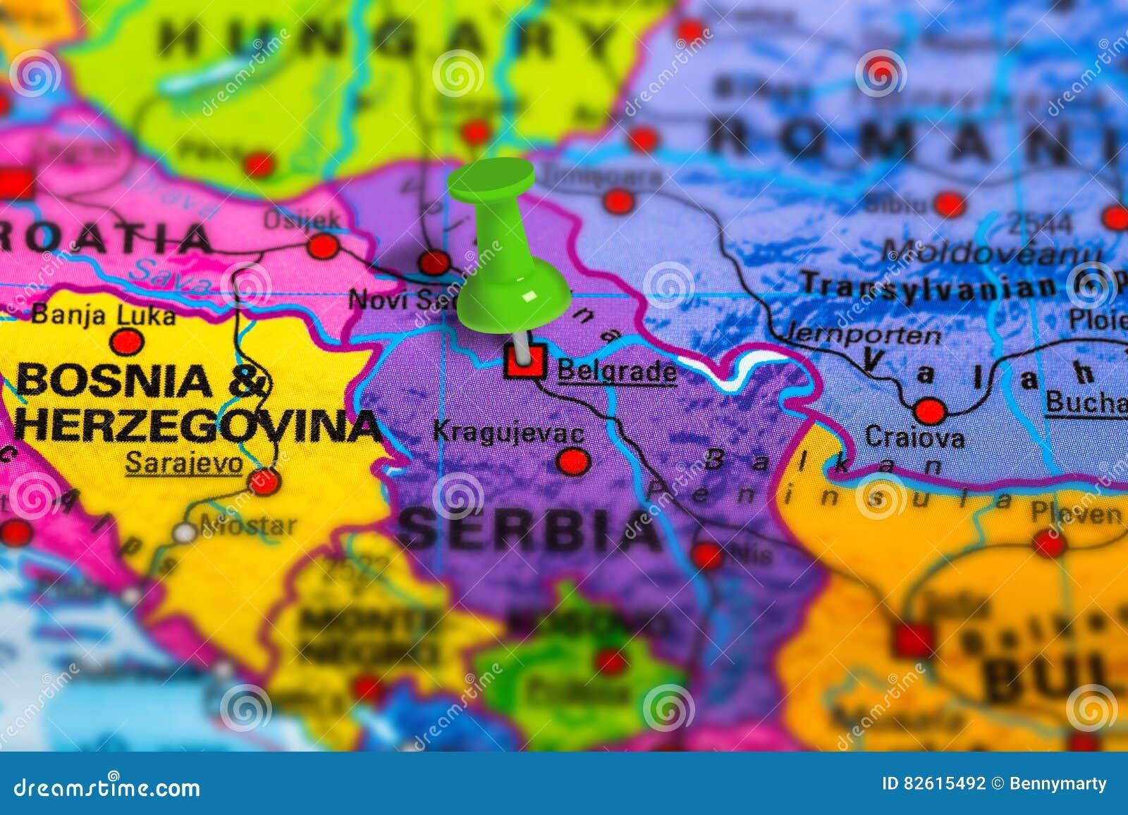 Mappa di Belgrado Serbia