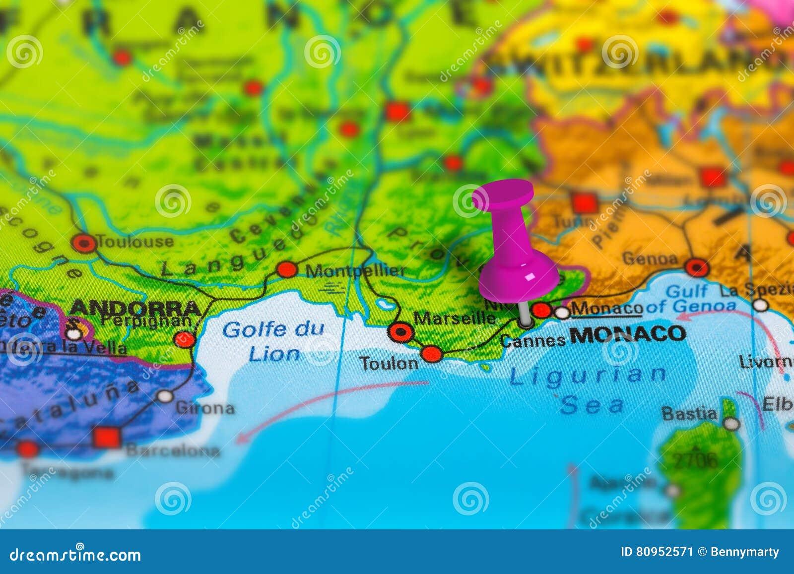 Cartina Di Cannes Francia.Mappa Di Cannes Francia Immagine Stock Immagine Di Esplorazione