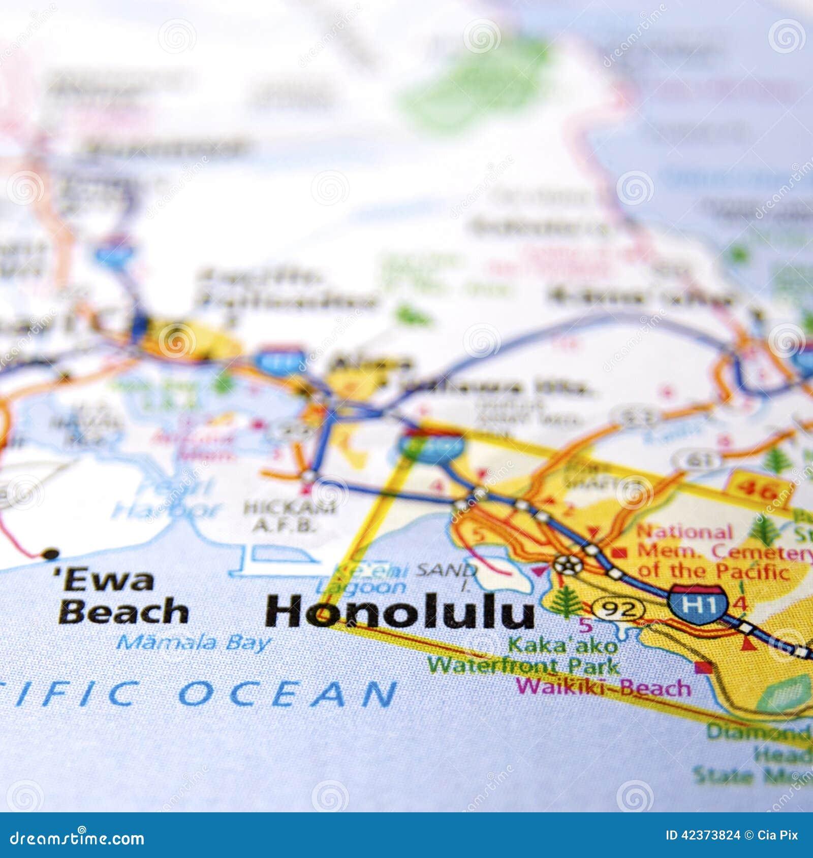 Contea Di Honolulu Hawaii mappa di honolulu fotografia stock. immagine di contea