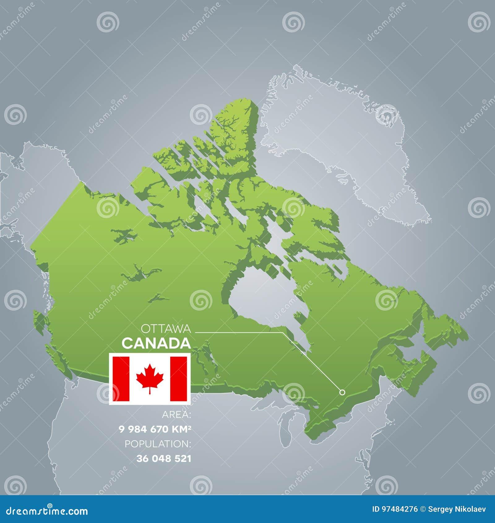 Mappa di informazioni del Canada