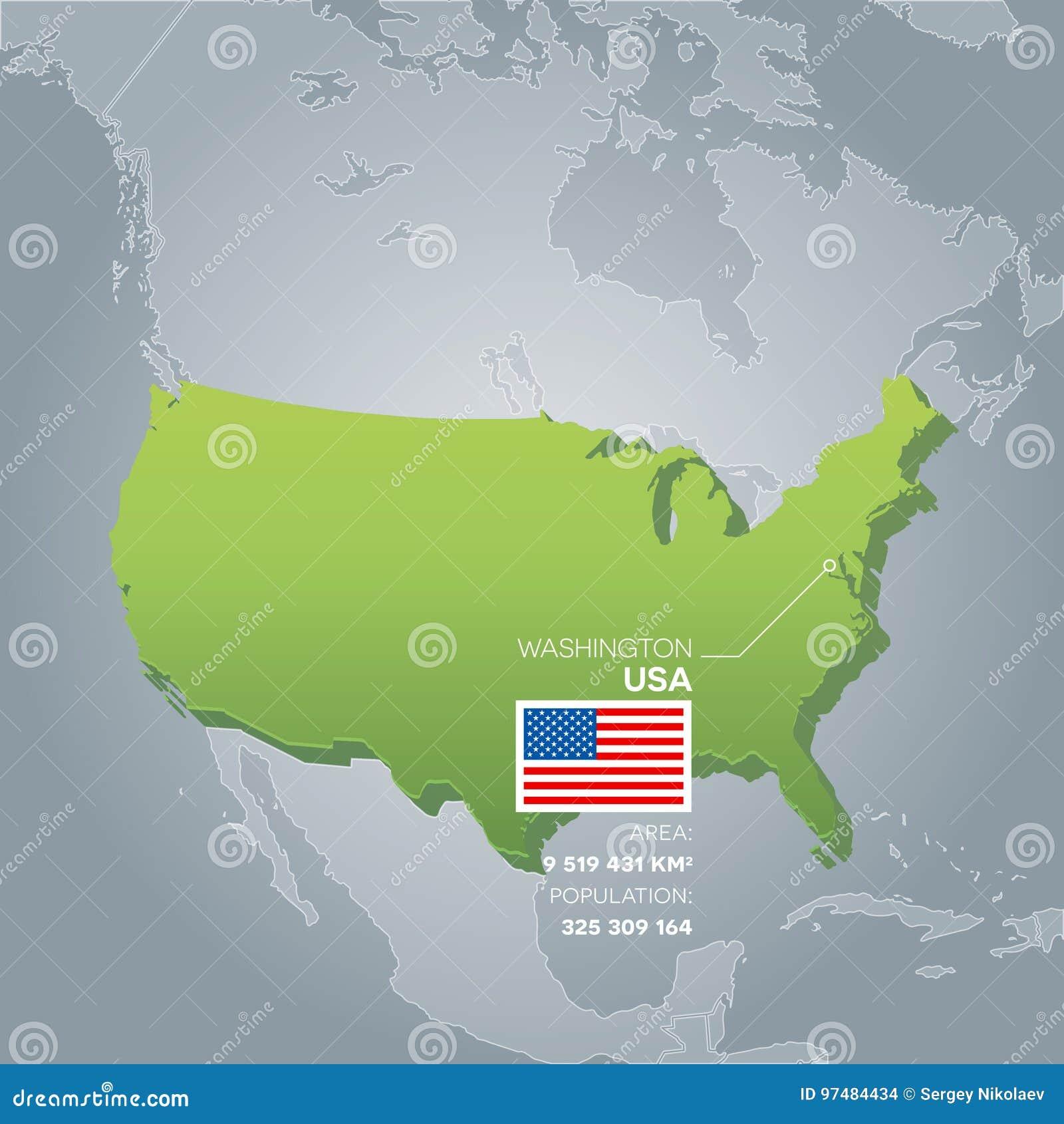 Mappa di informazioni di U.S.A.