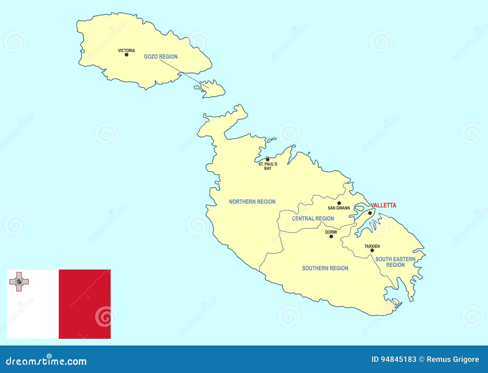 Cartina Di Malta Da Stampare.Mappa Di Malta Illustrazione Vettoriale Illustrazione Di South 94845183
