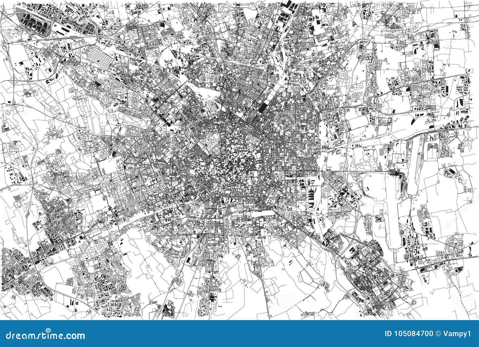 Cartina Satellitare Lombardia.Mappa Di Milano Citta Lombardia Italia Illustrazione Vettoriale Illustrazione Di Durante Aeroplano 105084700
