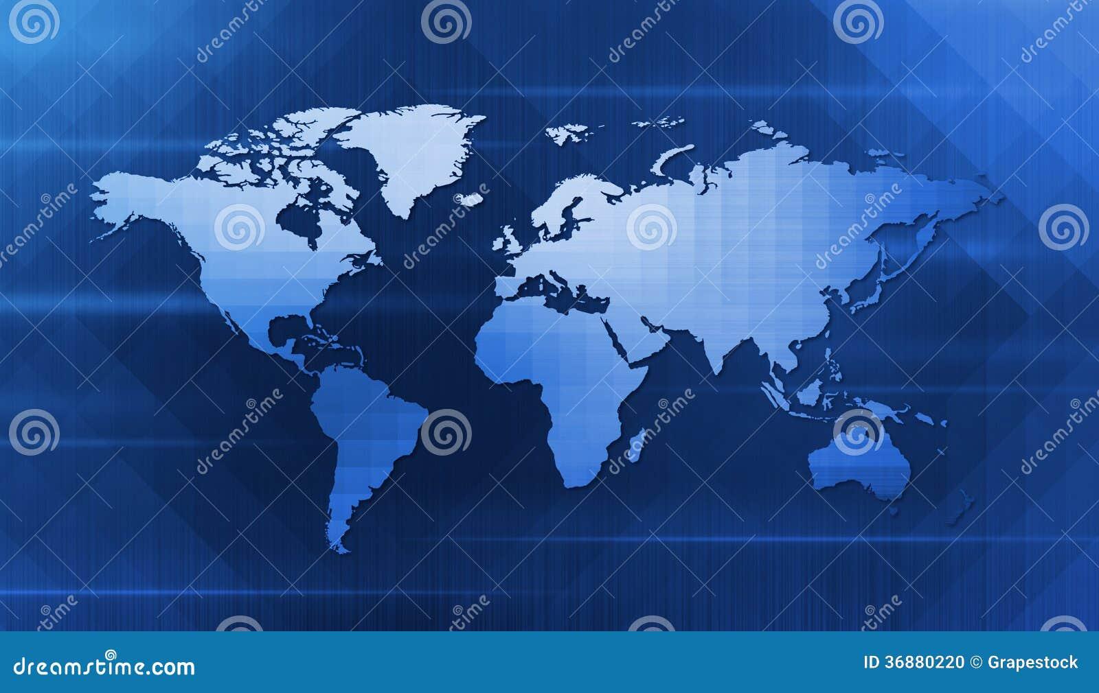 Download Mappa di mondo di Digital illustrazione di stock. Illustrazione di calcolatore - 36880220