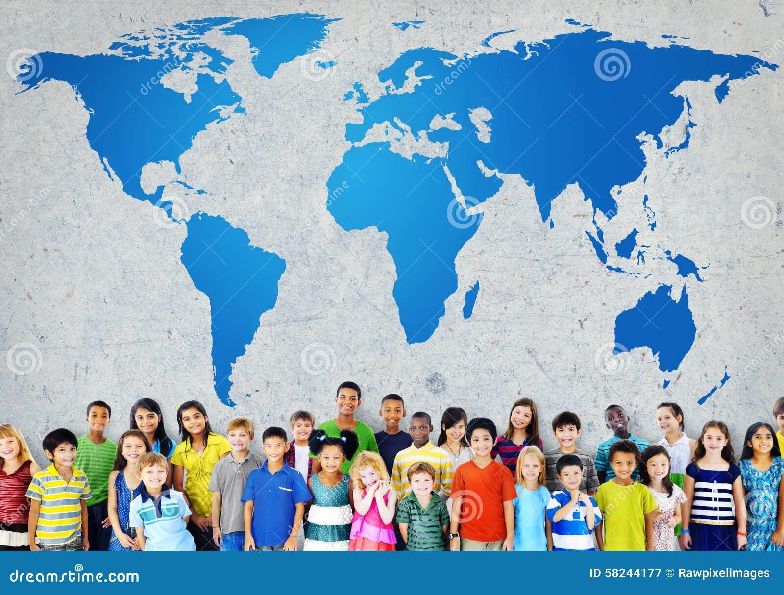 Mappa di mondo globale di globalizzazione Concservation ambientale Conce