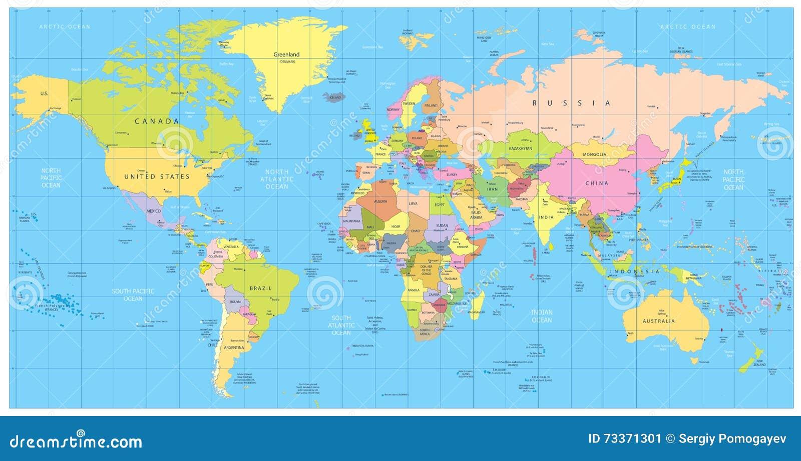 världskarta bild gratis