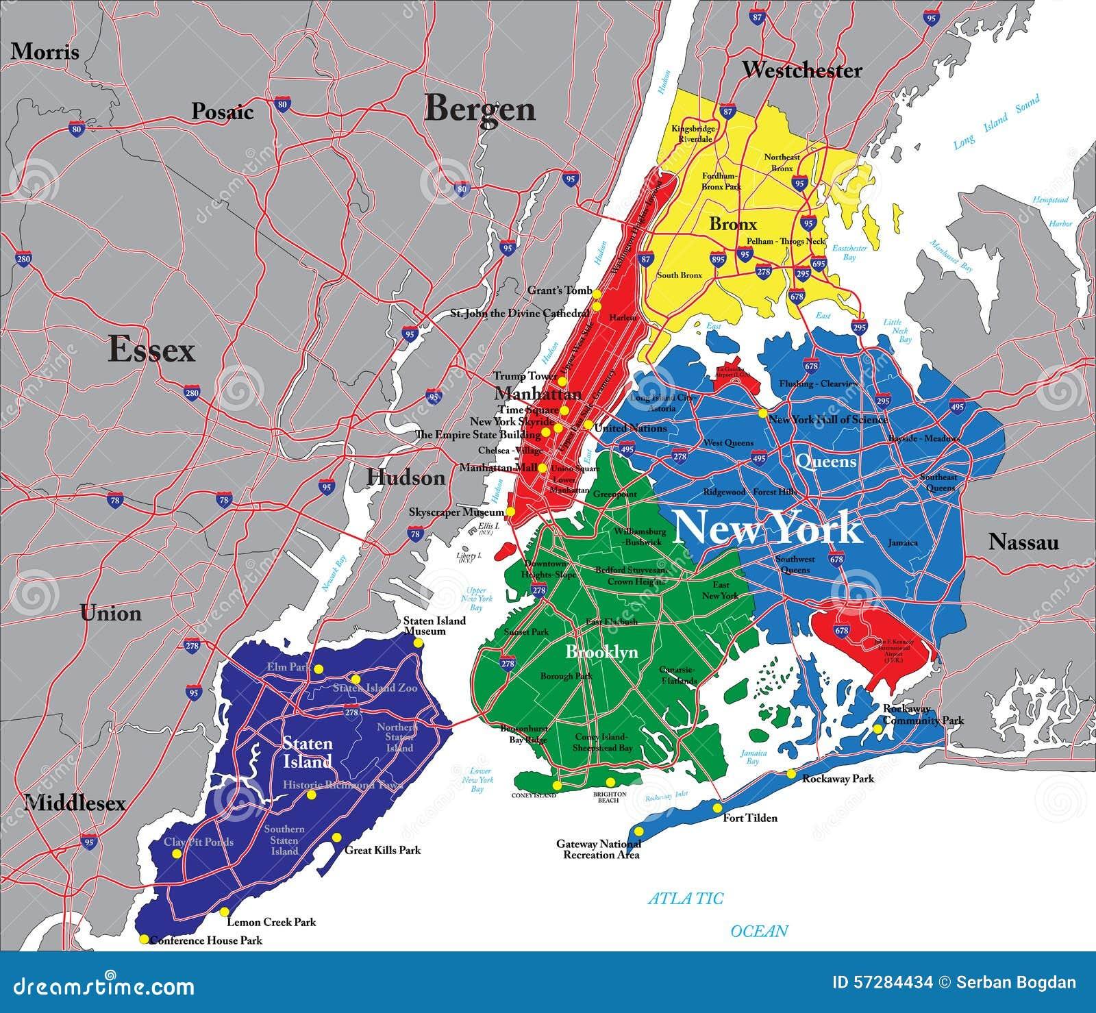 Download mappa turistica new york