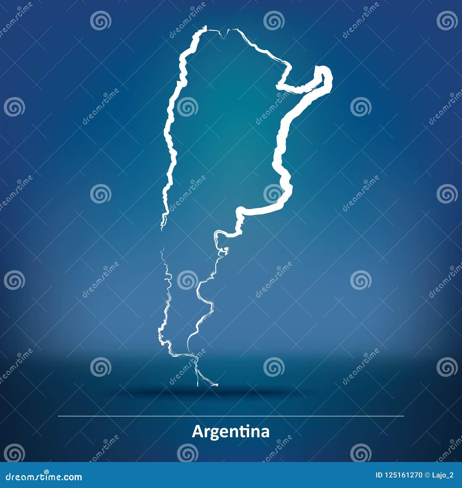 Mappa di scarabocchio dell Argentina