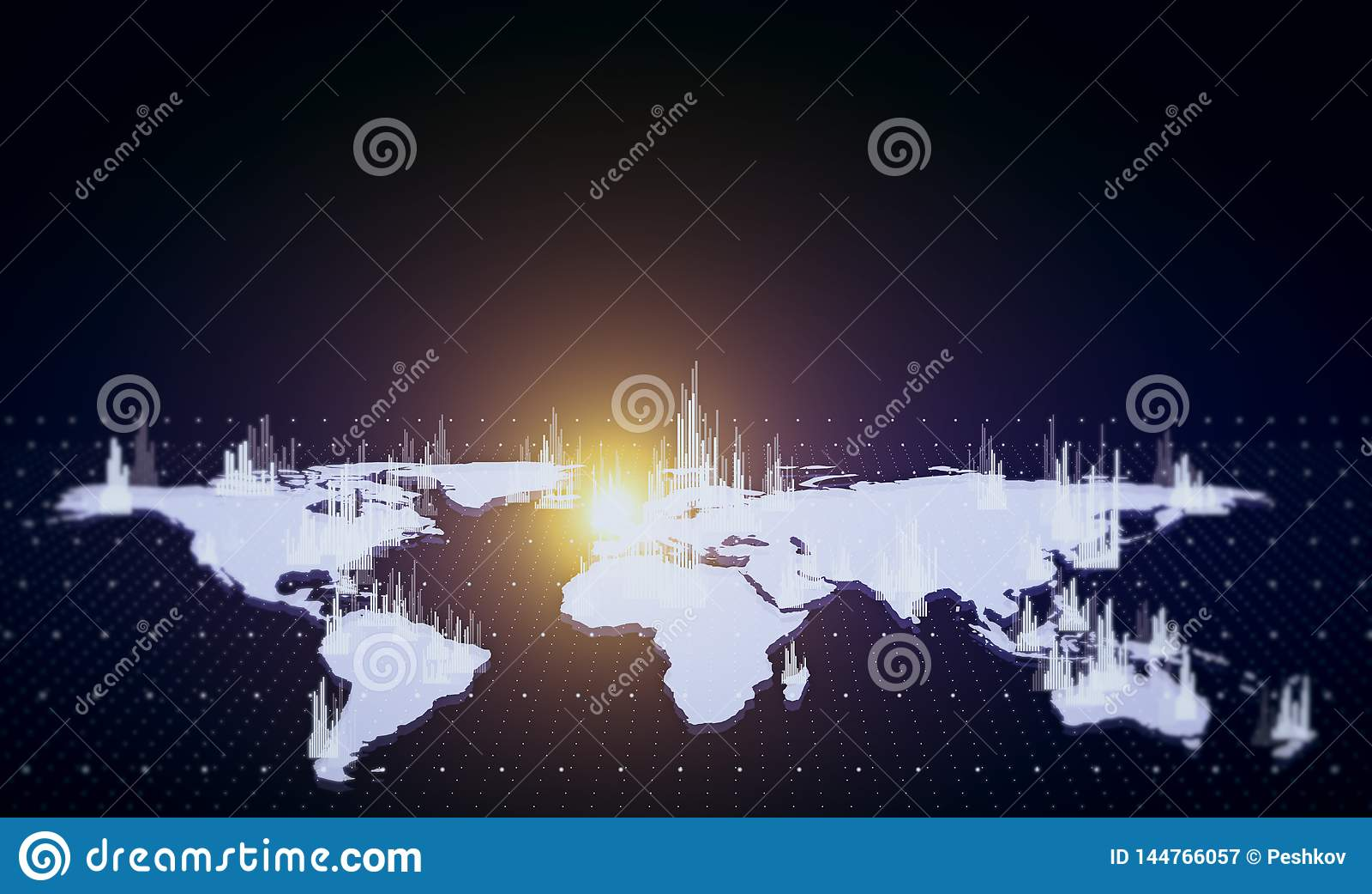 Mappa finanziaria bianca d ardore