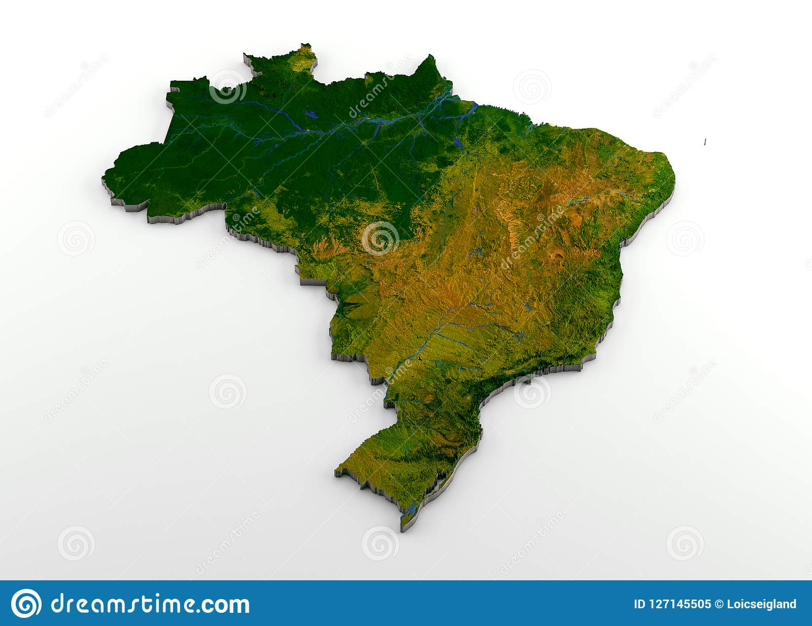 Cartina Italia Politica Alta Definizione.Mappa Fisica Del Brasile 3d Con Sollievo Illustrazione Di Stock Illustrazione Di Politico Deserto 127145505