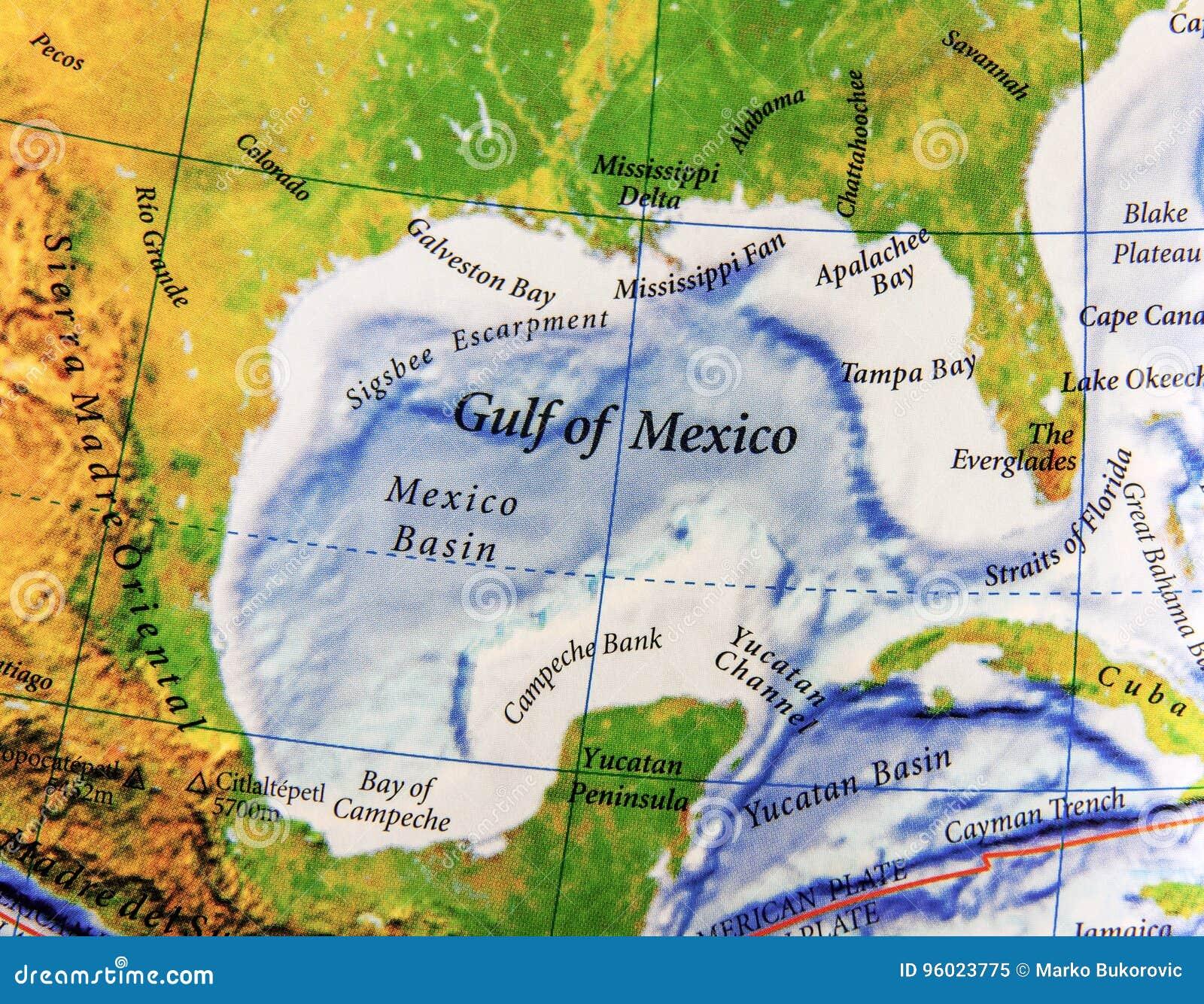 Cartina Geografica Politica Del Messico.Mappa Geografica Del Golfo Del Messico Nel Paese Del Messico Immagine Stock Immagine Di Dichiari Globale 96023775