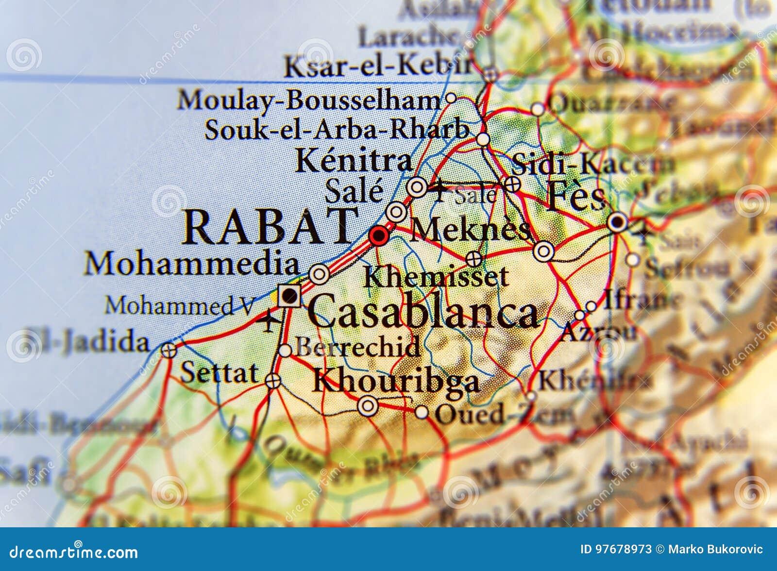 Cartina Stradale Marocco Gratis.Mappa Geografica Del Marocco Con La Capitale Rabat Immagine Stock Immagine Di Turismo Morocco 97678973