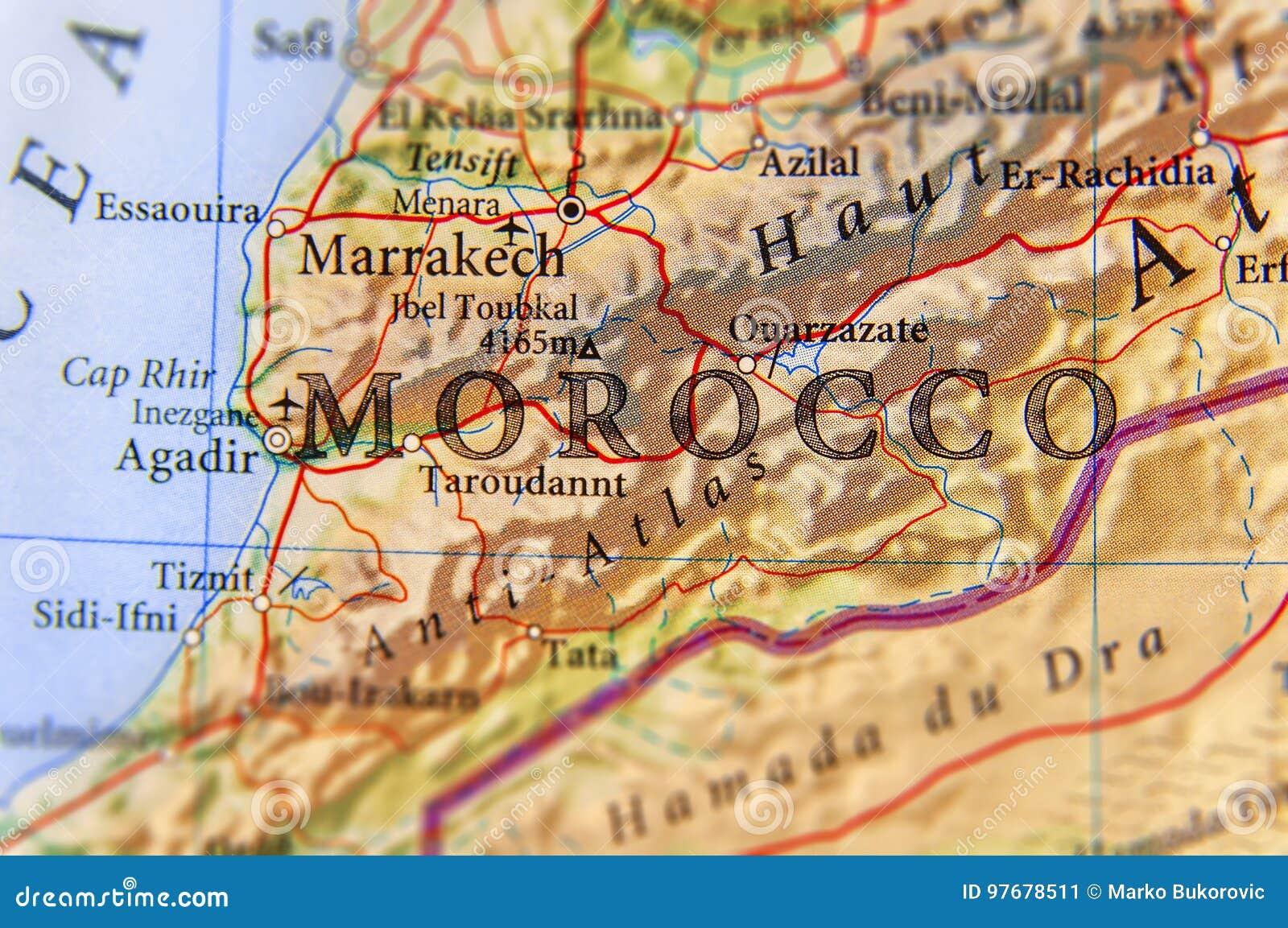 Cartina Stradale Marocco Gratis.Mappa Geografica Del Paese Del Marocco Con Le Citta Importanti Immagine Stock Immagine Di Sahara Corse 97678511