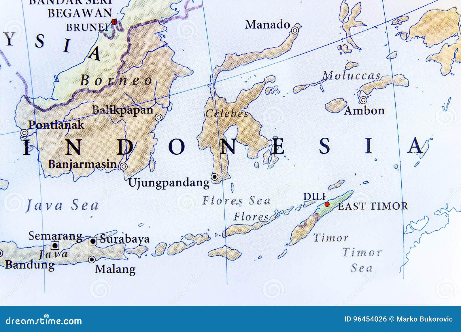 Cartina Geografica Dell Indonesia.Mappa Geografica Dell Indonesia Con Le Citta Importanti Fotografia Stock Immagine Di Citt Icona 96454026