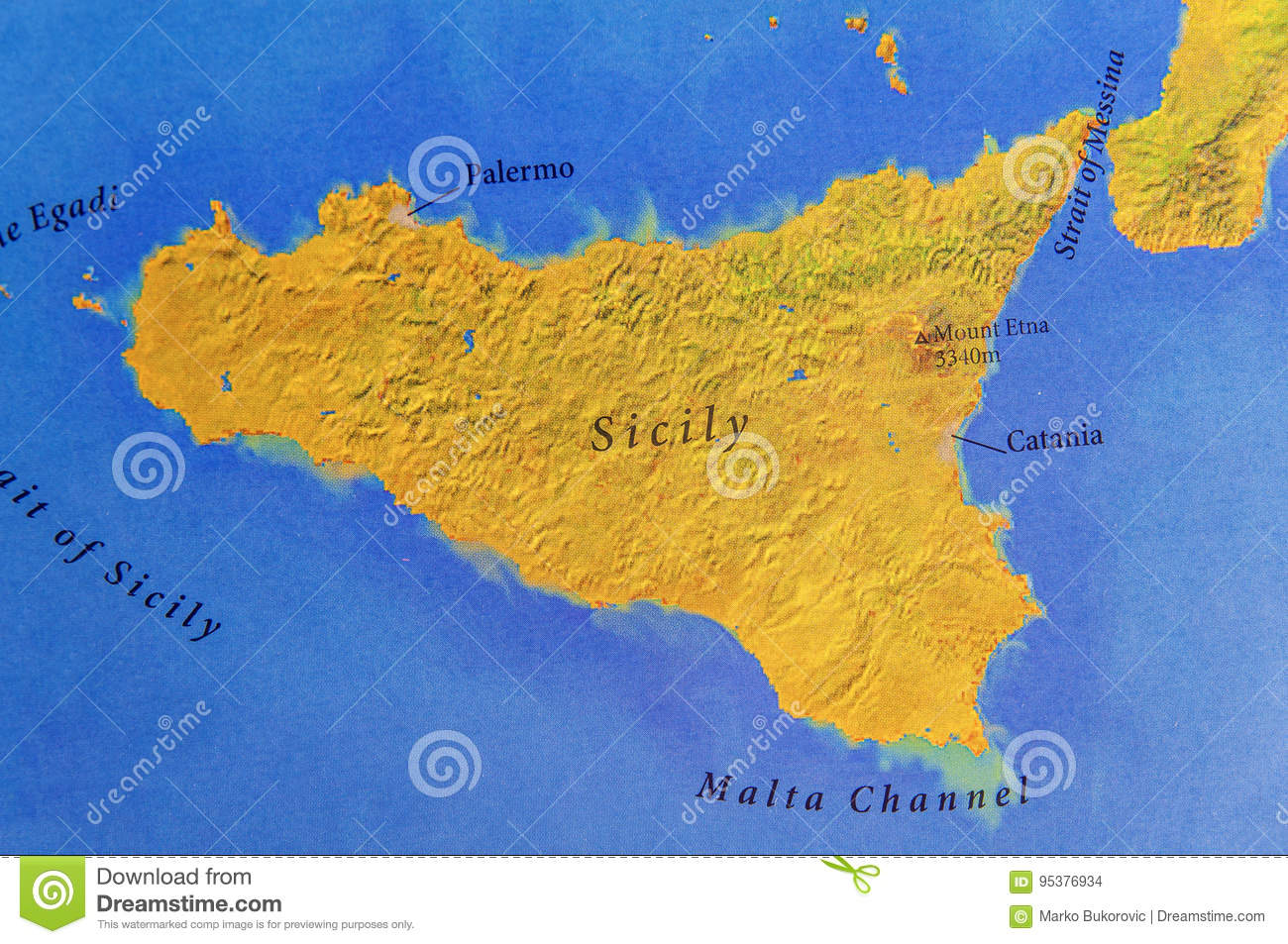 Sicilia Cartina isole