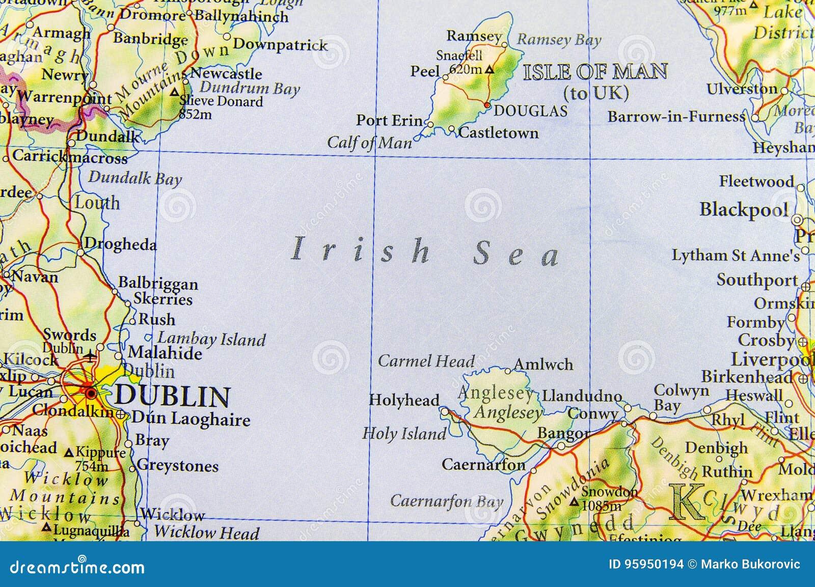 Mare D Irlanda Cartina.Mappa Geografica Di Paese Europeo Regno Unito Con Il Mare Di Irlanda Fotografia Stock Immagine Di Capitale Inghilterra 95950194