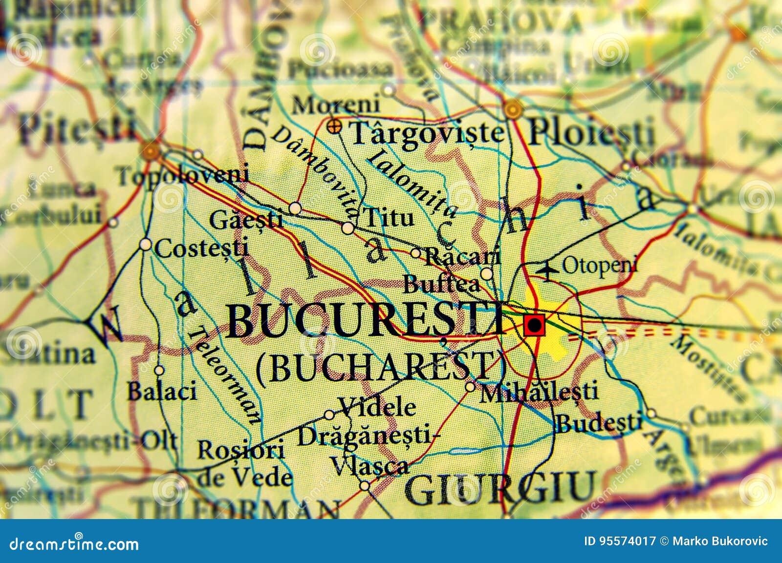 Romania Cartina Stradale.Mappa Geografica Di Paese Europeo Romania Con La Capitale Bucuresti Immagine Stock Immagine Di Turismo Corsa 95574017