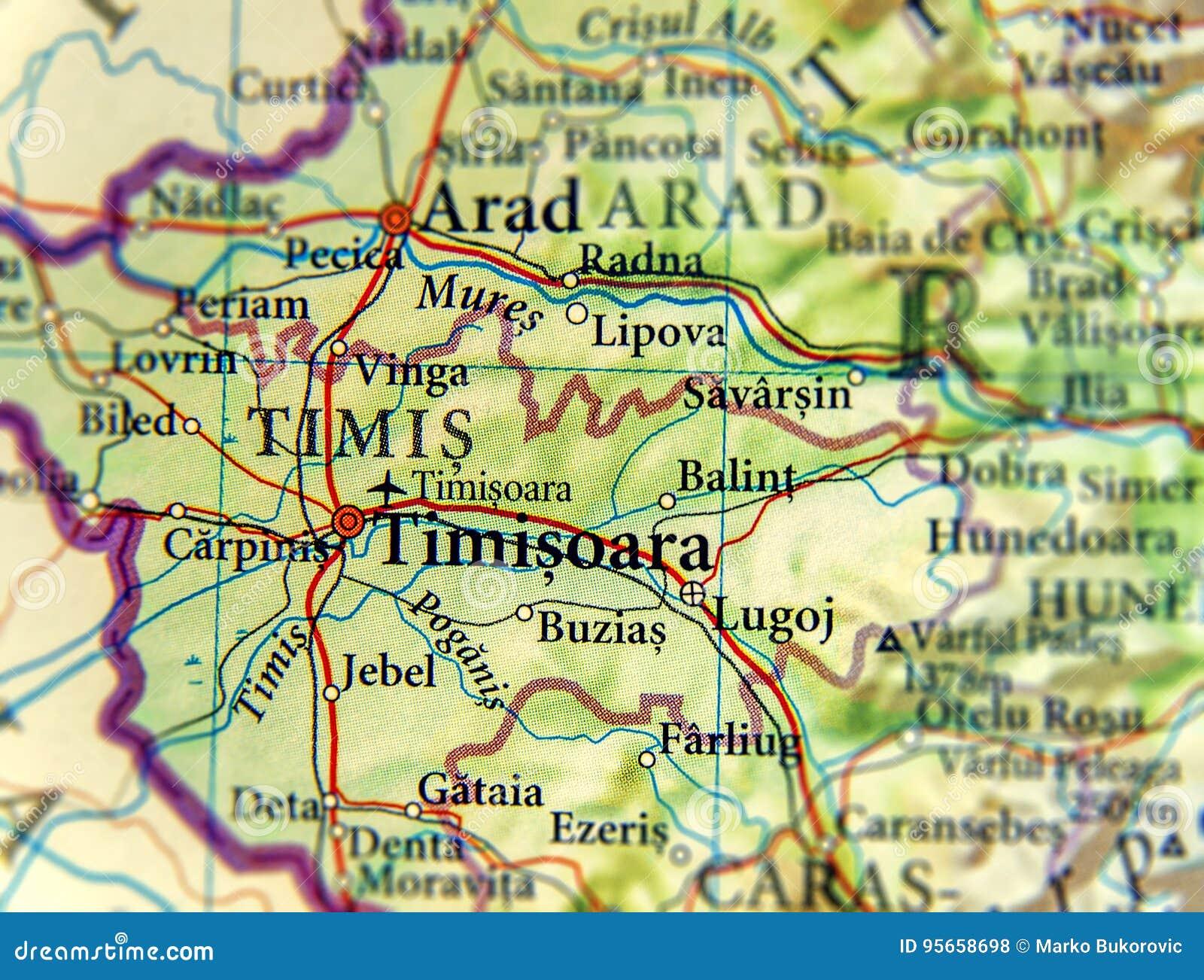 Cartina Stradale Della Romania.Mappa Geografica Di Paese Europeo Romania Con La Citta Timisoara Fotografia Stock Immagine Di Posizione Capitale 95658698