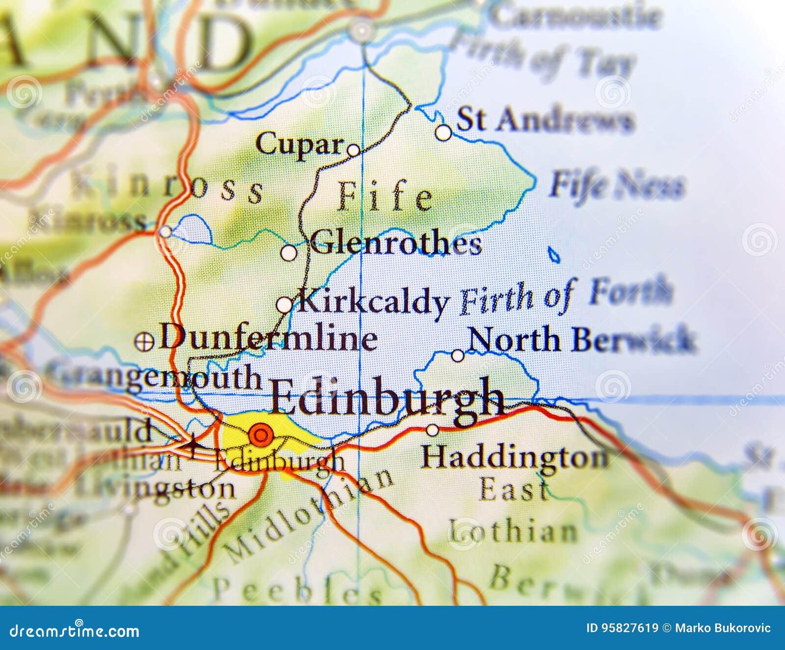 Cartina Geografica Della Scozia.Mappa Geografica Di Paese Europeo Scozia Con La Capitale Di Edimburgo Immagine Stock Immagine Di Destinazione Europeo 95827619