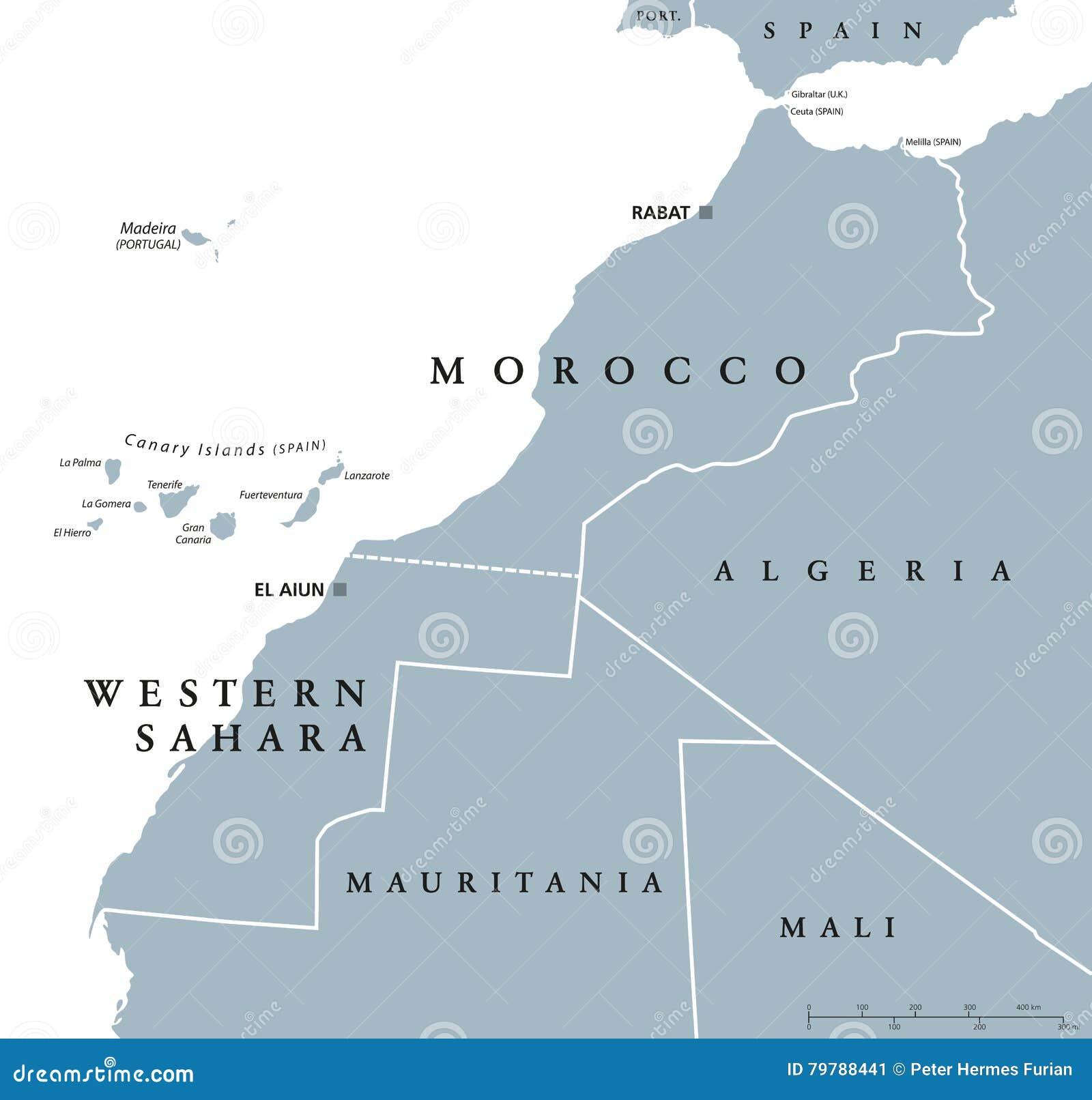 Cartina Politica Del Marocco.Mappa Politica Del Sahara Occidentale E Del Marocco Illustrazione Vettoriale Illustrazione Di Sconto Naturalizzisi 79788441