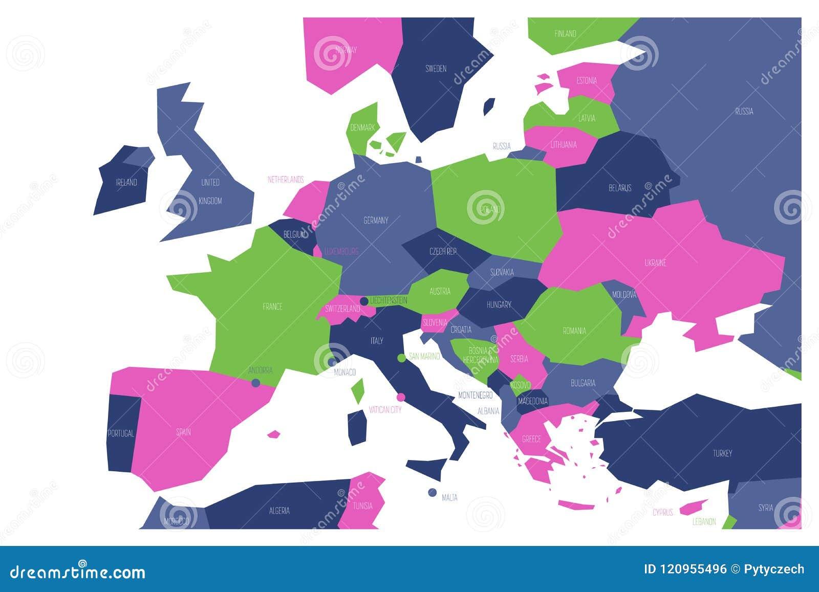 Europa Meridionale Cartina.Mappa Politica Della Centrale E Dell Europa Meridionale Mappa Schematica Di Vettore Di Simlified Nelle Combinazioni Colori Quattr Illustrazione Vettoriale Illustrazione Di Centrale Disegno 120955496