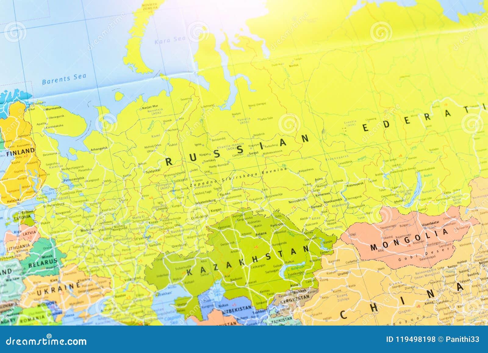 Cartina Russia Fisica E Politica