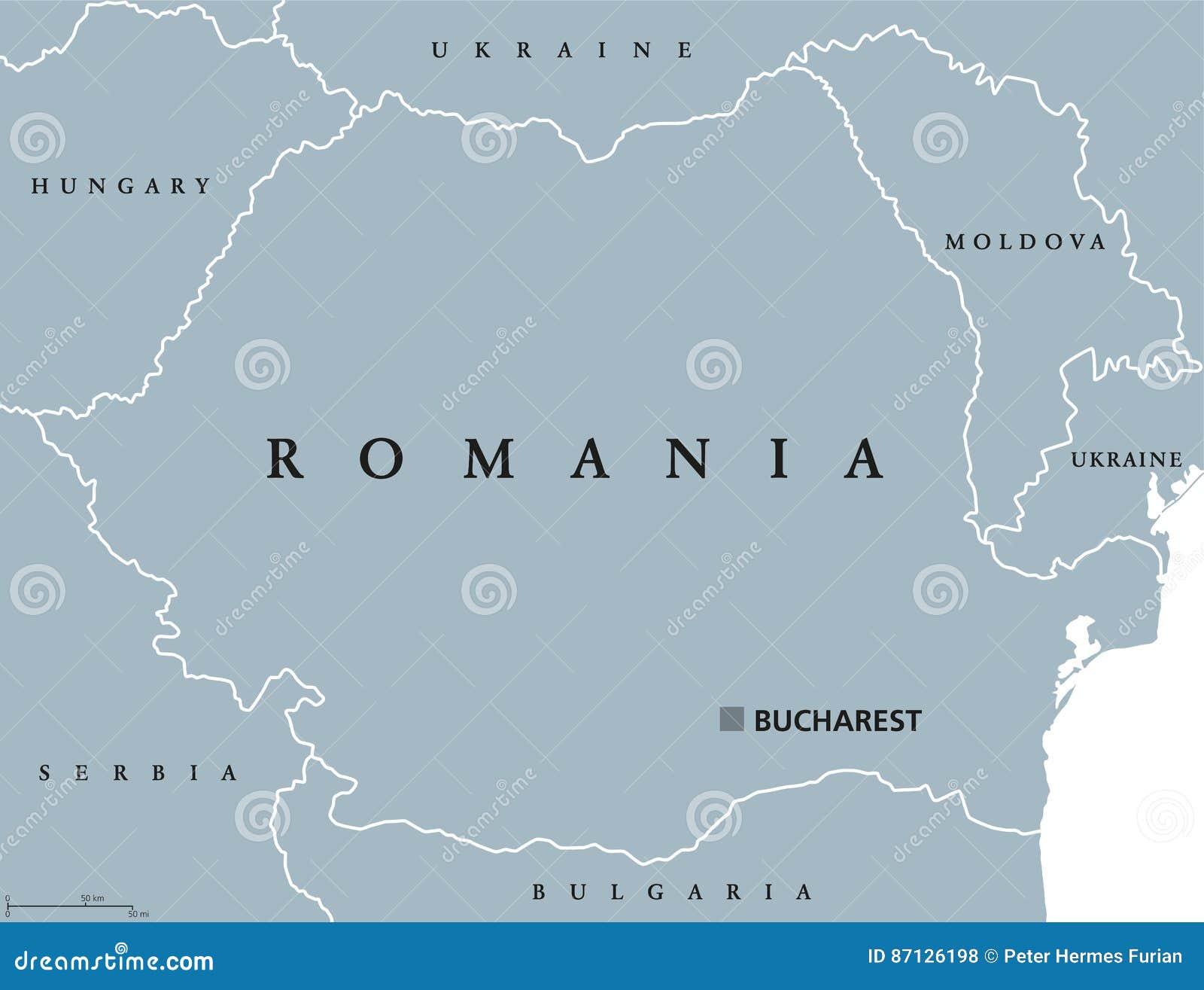 Cartina Dettagliata Romania.Mappa Politica Della Romania Illustrazione Vettoriale Illustrazione Di Cartografia Romania 87126198