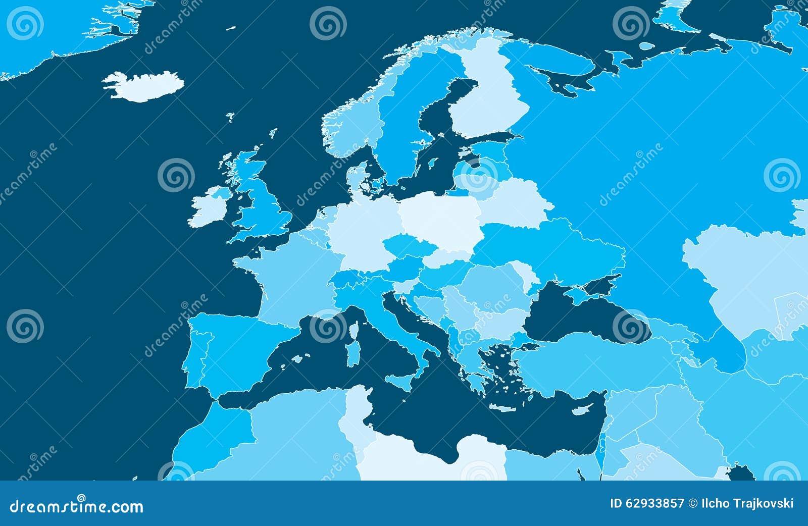 Mappa politica di Europa