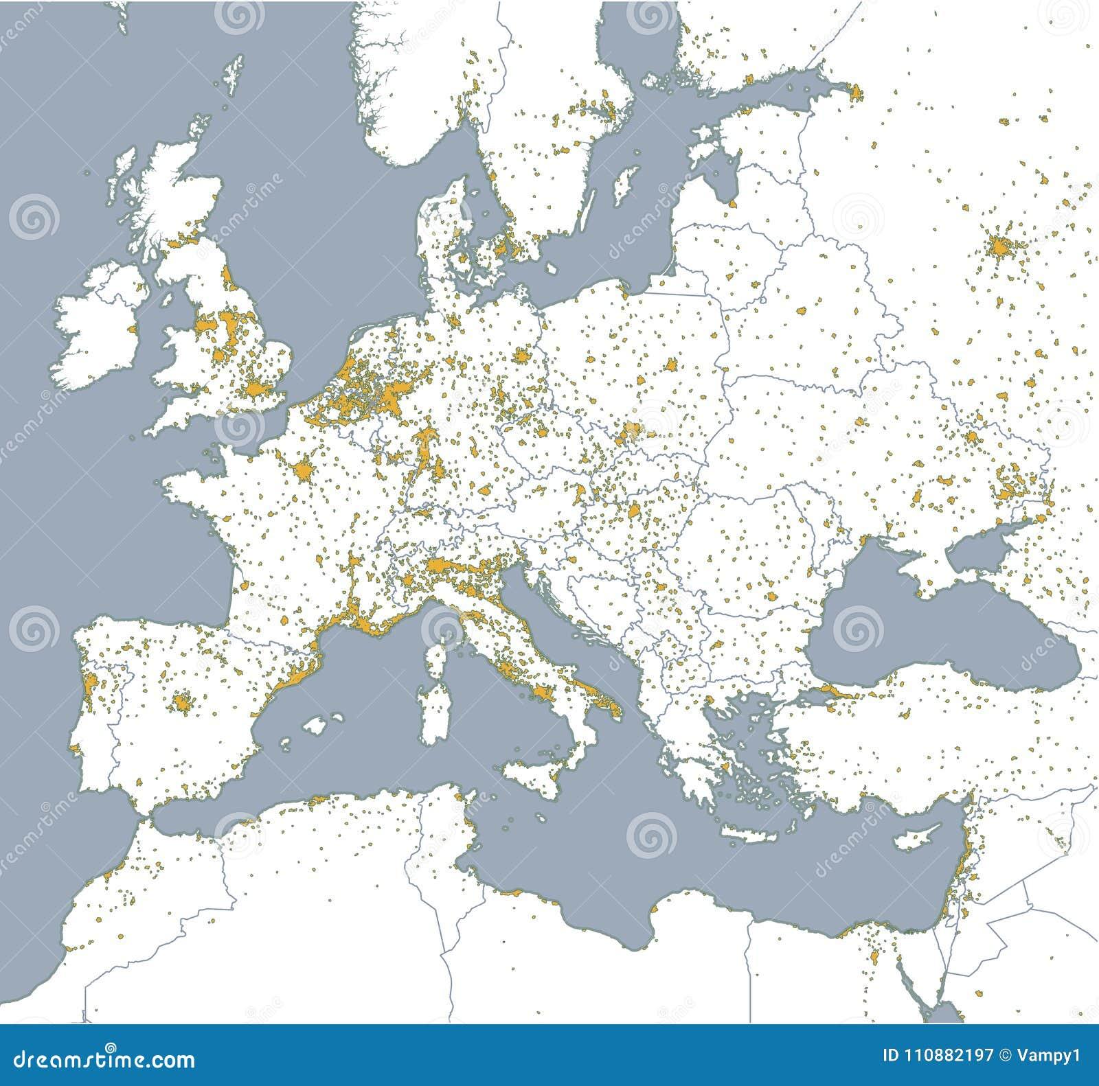 Cartina Politica Muta Dell Europa.Mappa Politica Di Europa E Dell Africa Citta Europee Mappa Politica Con Il Confine Degli Stati Illustrazione Vettoriale Illustrazione Di Africa Egitto 110882197