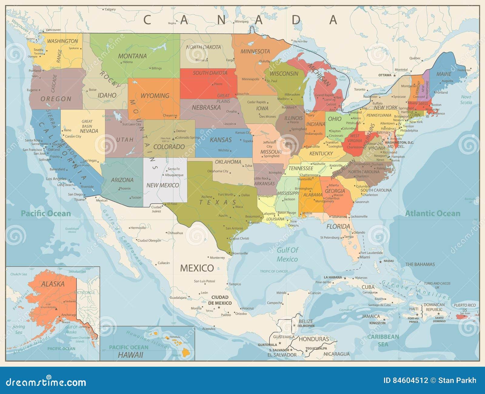Cartina Politica Stati Uniti Con Capitali