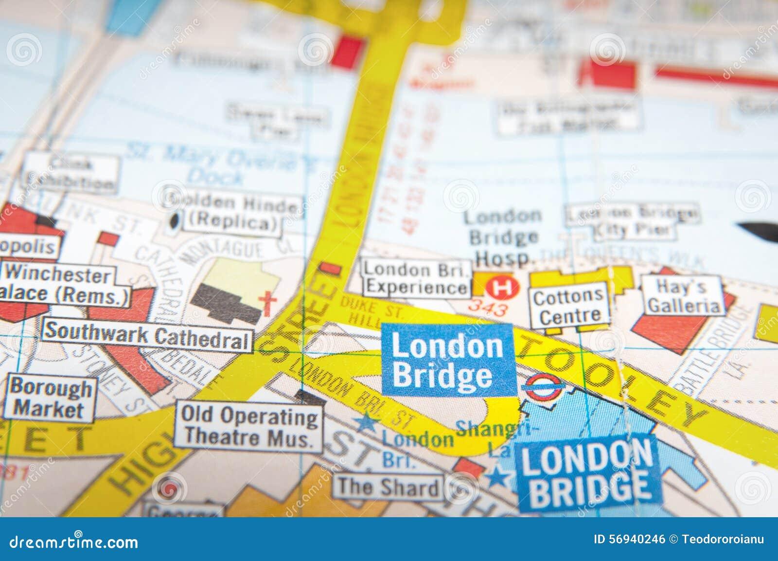 Cartina Stradale Londra.Mappa Stradale Di Londra Fotografia Stock Immagine Di Londra 56940246