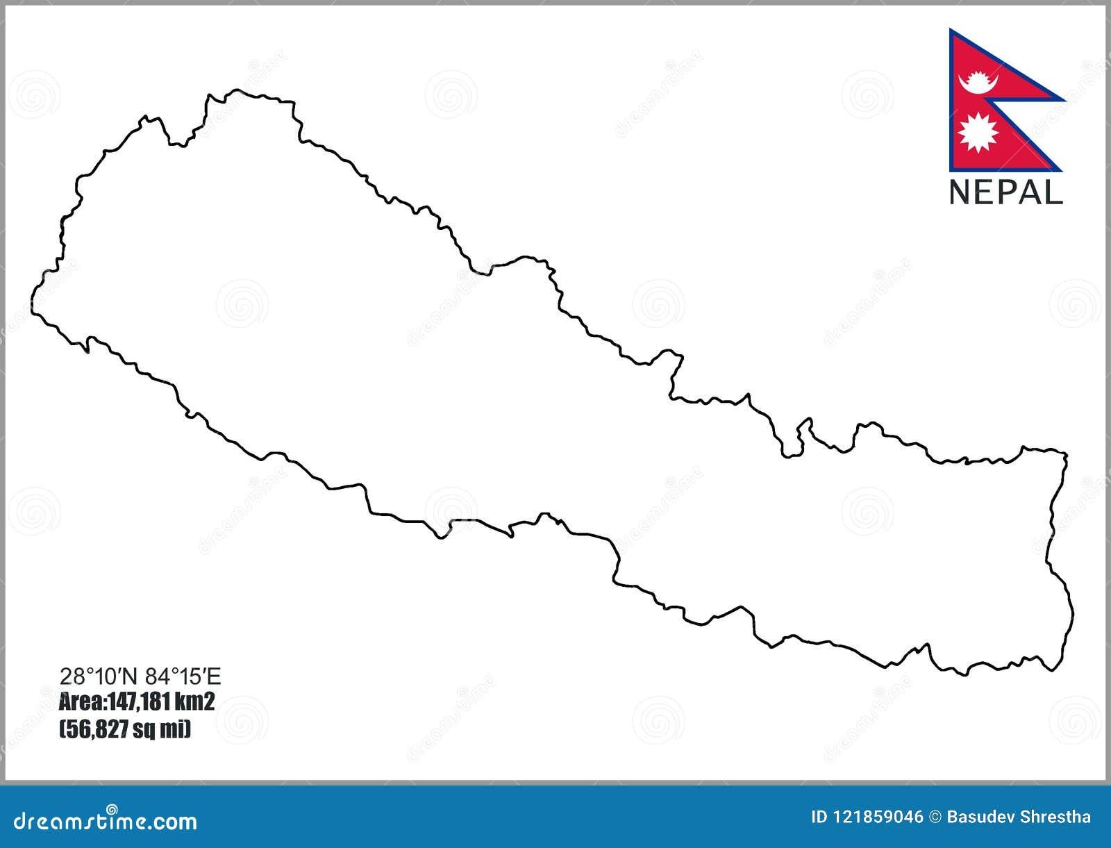 Cartina Dettagliata Del Nepal.Mappe Del Nepal Mappa Dettagliata Del Nepal Illustrazione Di