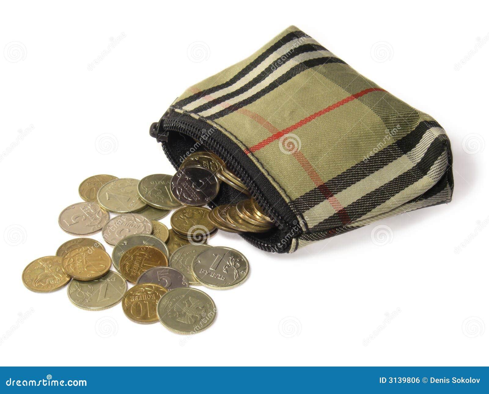 Mappe Und Münzen Stockfoto Bild Von Finanzen Kauf Roubles 3139806