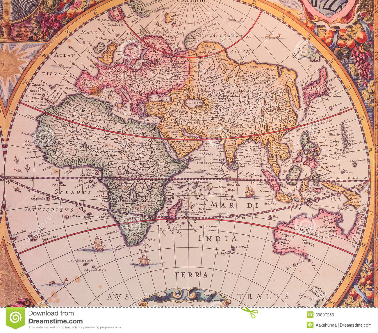 Navigation World Map.Maps Of The Ancient World Stock Illustration Illustration Of Earth