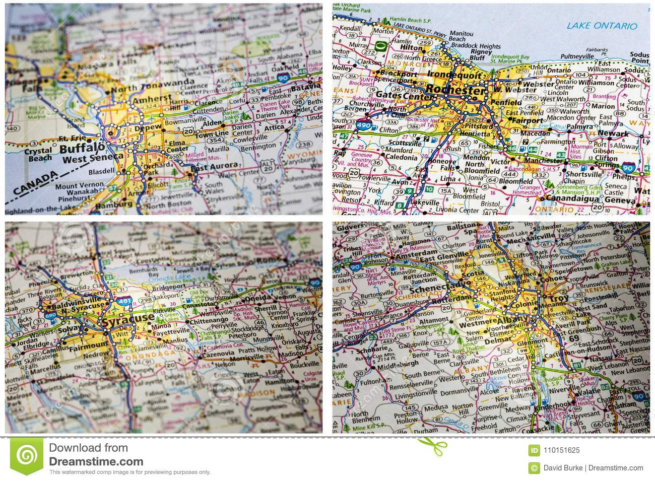 Maps Atlas Print Highway Collage Editorial Image Image Of City