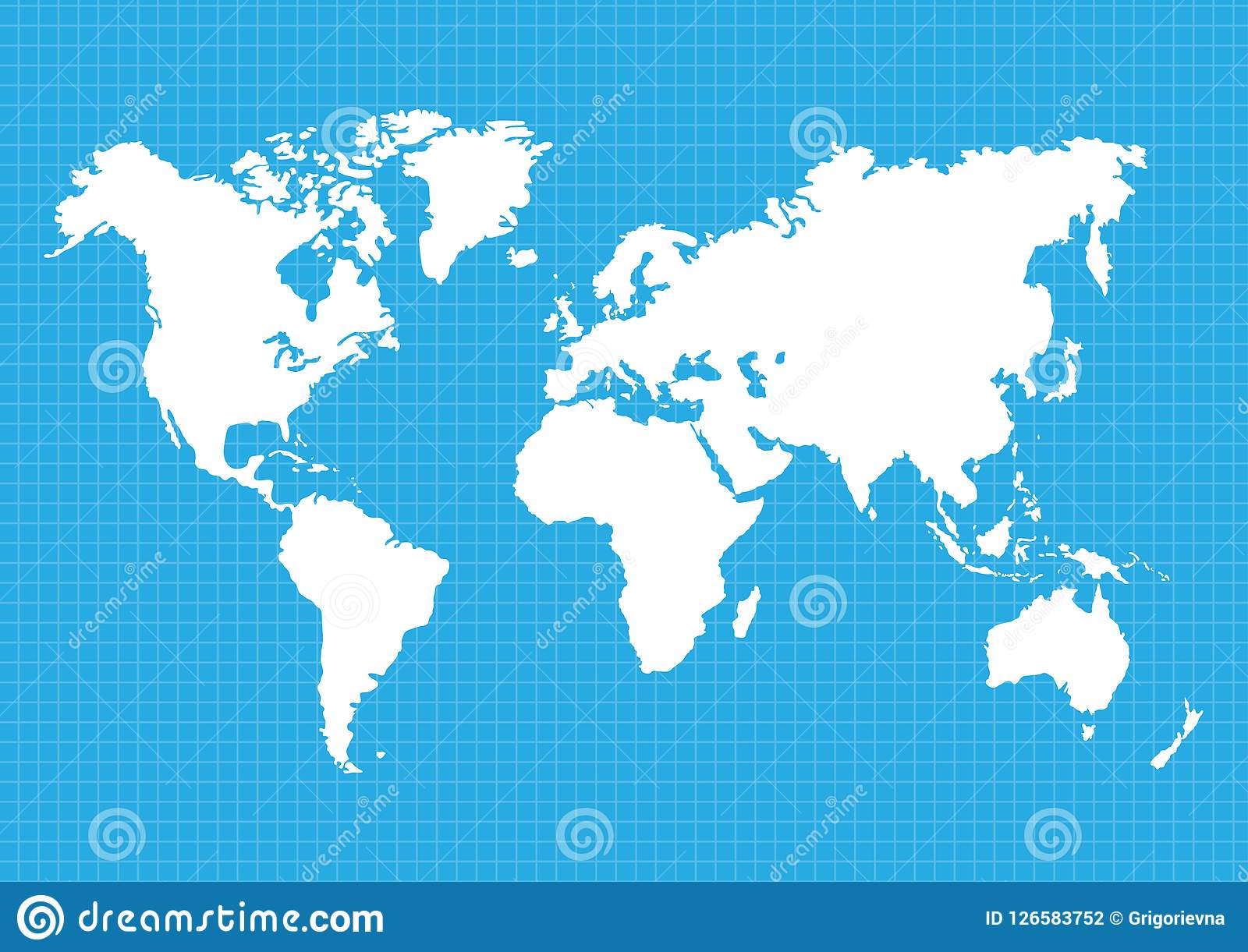 Maps Of The Earth`s. World Map, Continents, Vector Illustration ...