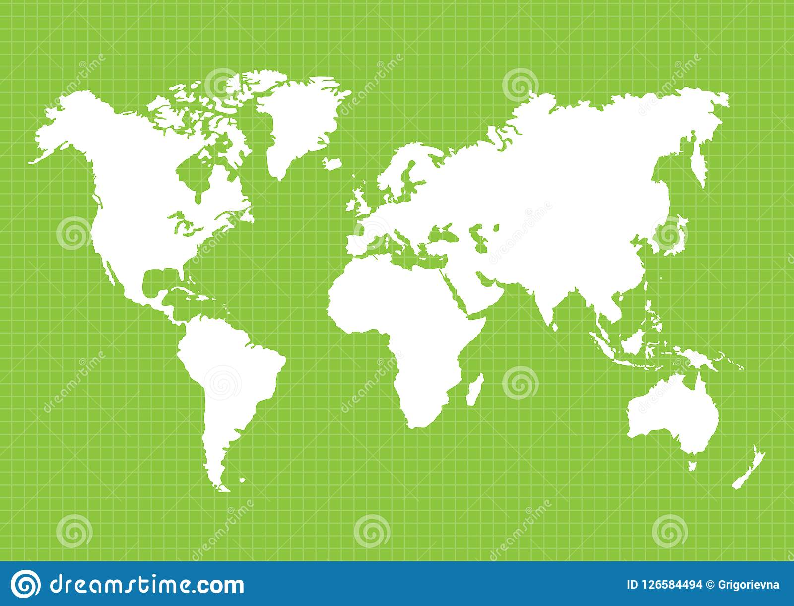 maps of the earth s world map continents vector illustration