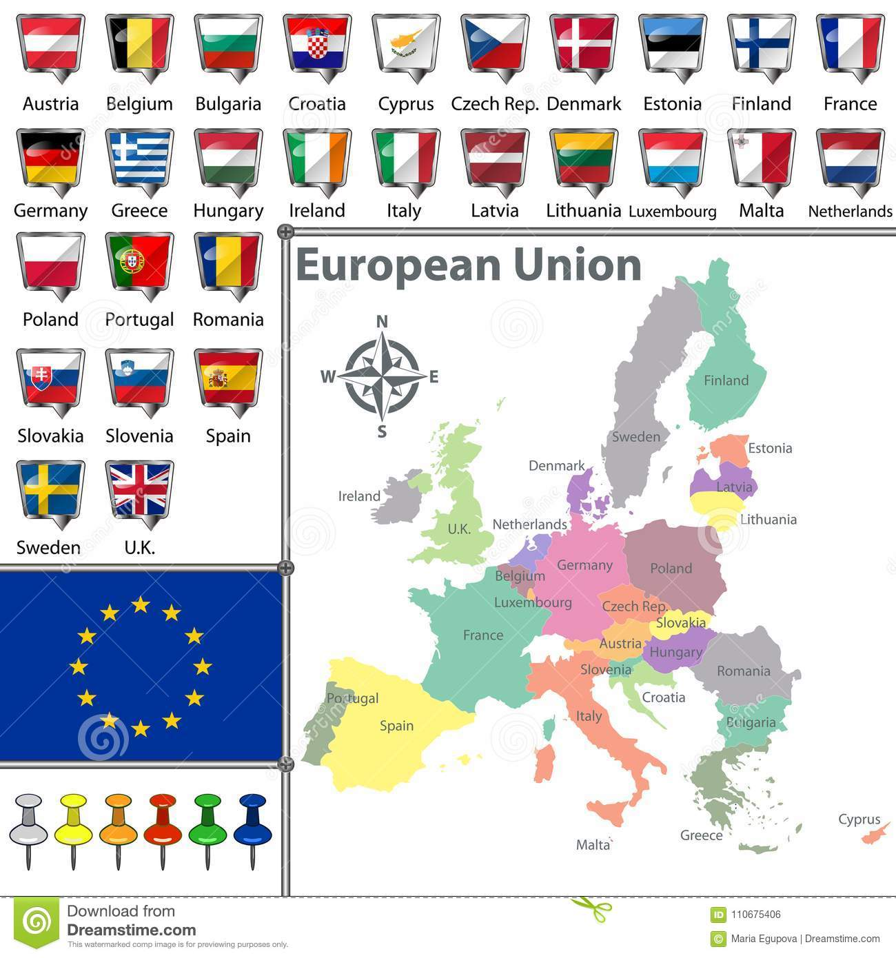 Image result for map of european union