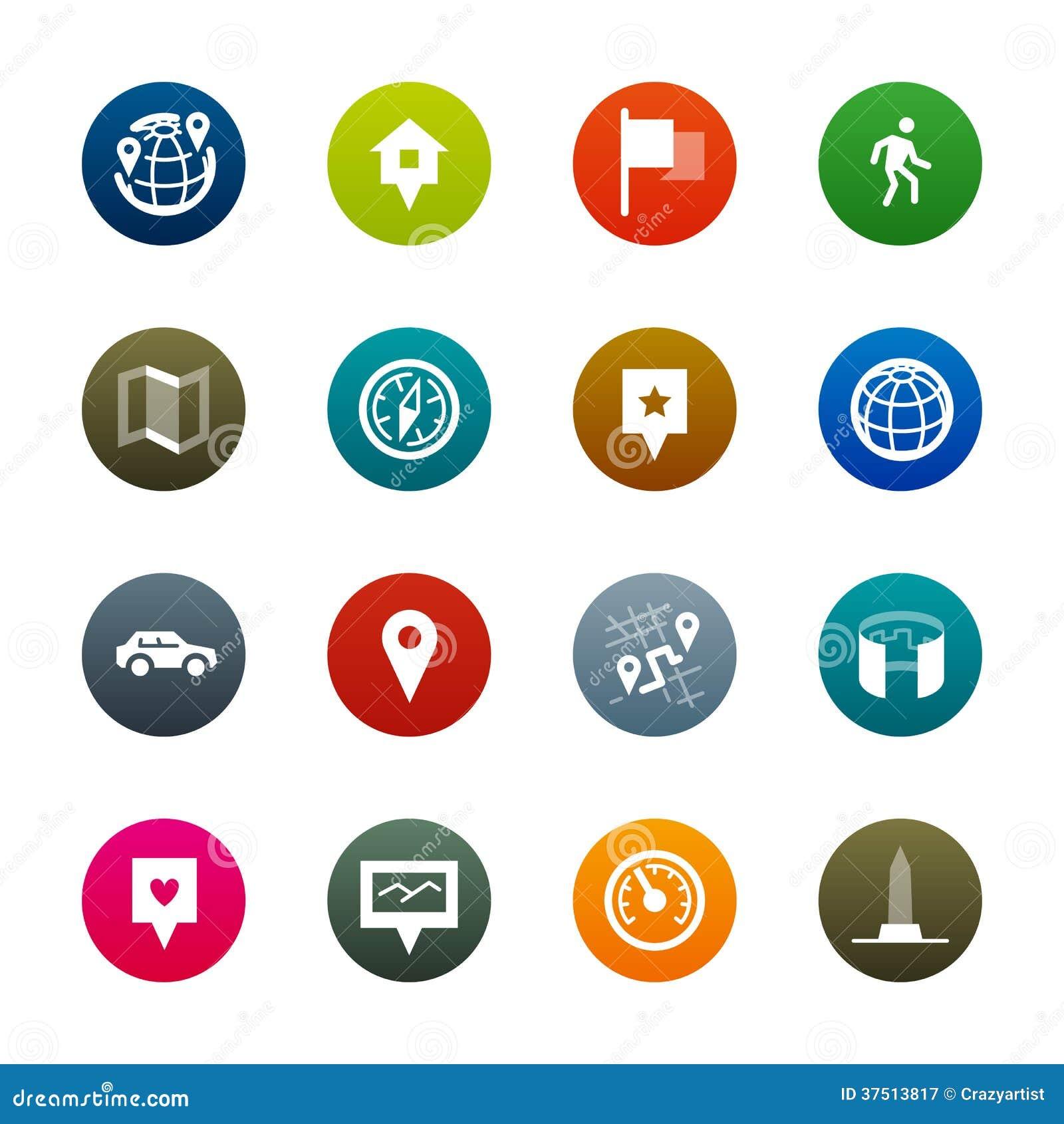Maps and navigation icons – Kirrkle series