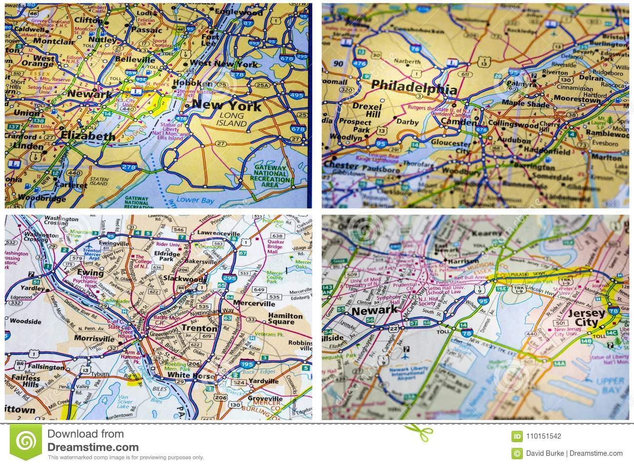 Maps New York Collage Stock Illustration Illustration Of York