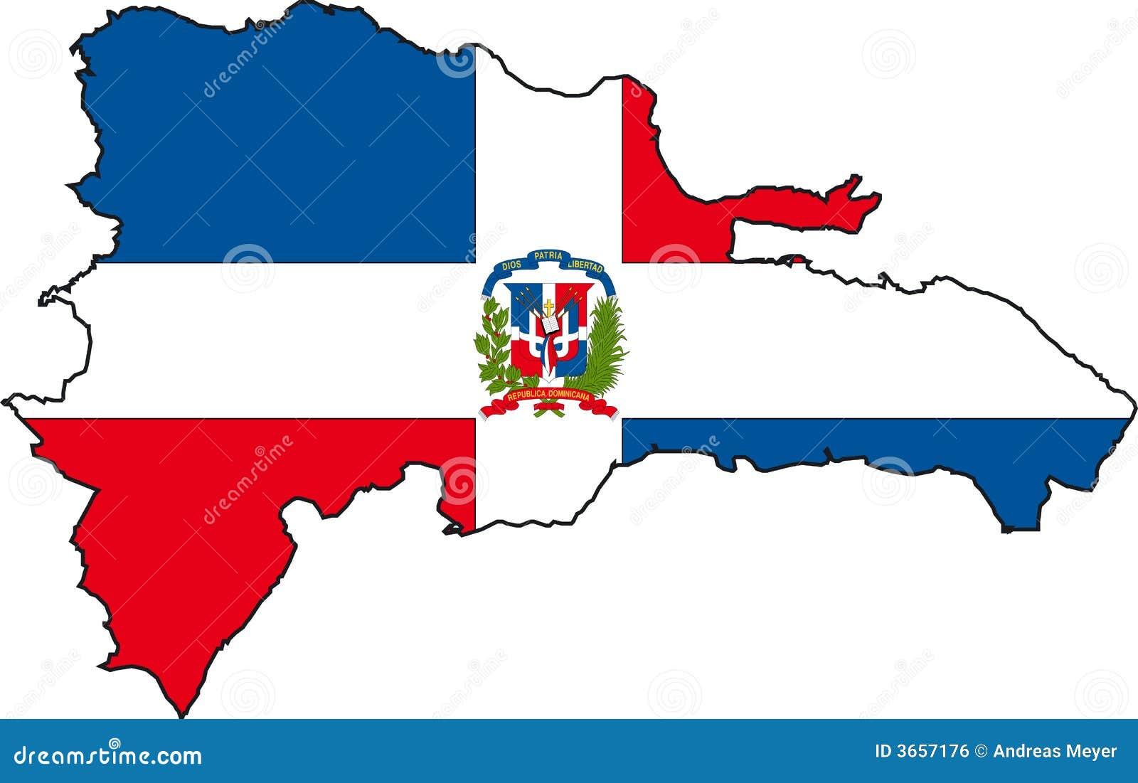 Mapy dominican republiki wektora