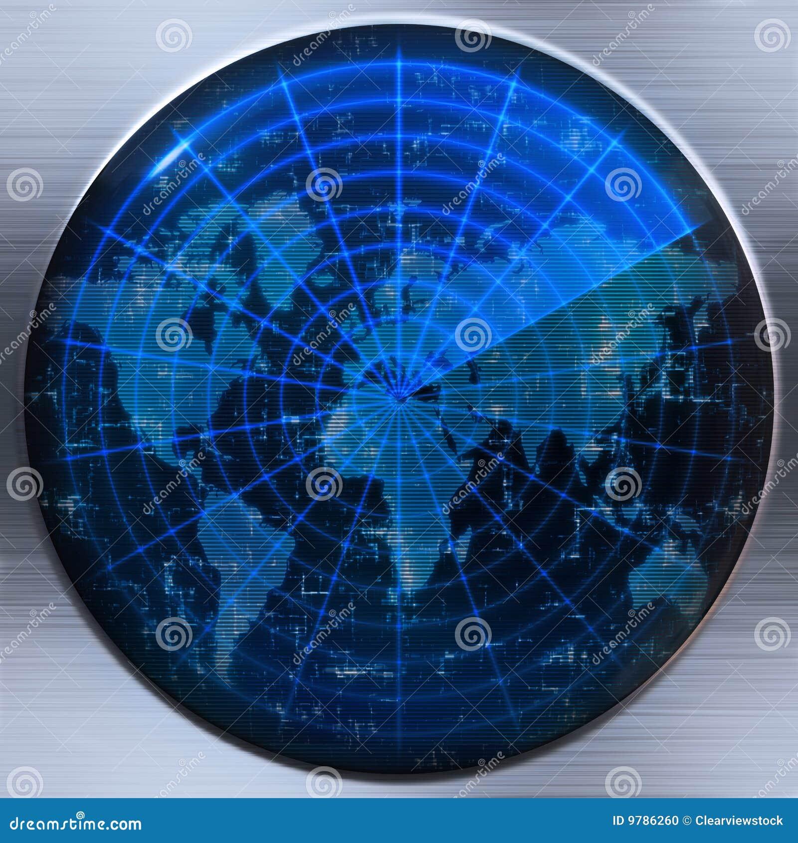 Mapy radarowy sonaru świat