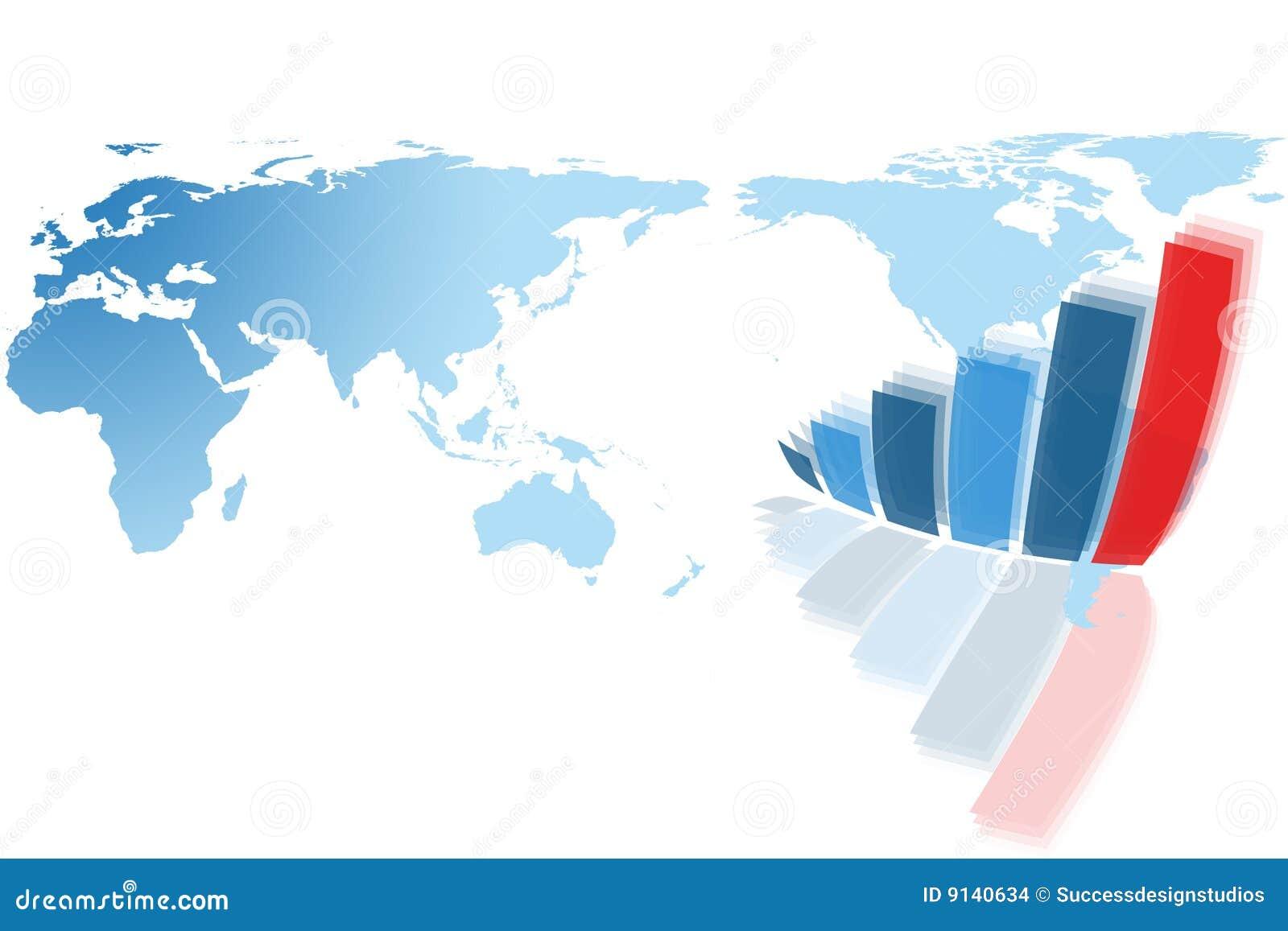 Mapy wykresu mapy świat